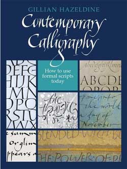 Gillian Jilly Hazeldine contemporary calligraphy book