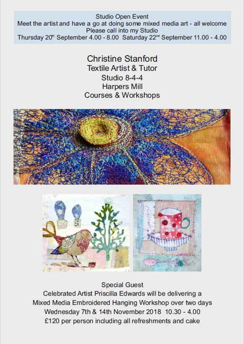 Christine Stanford workshops and Education Courses