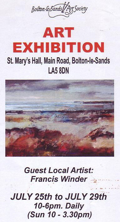 Bolton le Sands Annual Exhibition Guest Artist