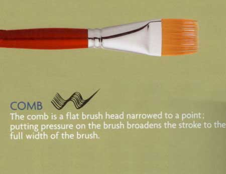 Comb brush polyamide fibre from Iris