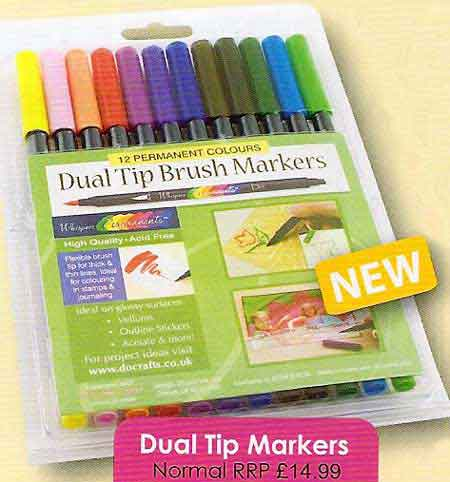 Dual Tip Brush Markers set 12 do crafts whispers