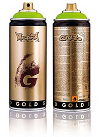 Montana GOLD  Spray Paint Cans at the push of a button