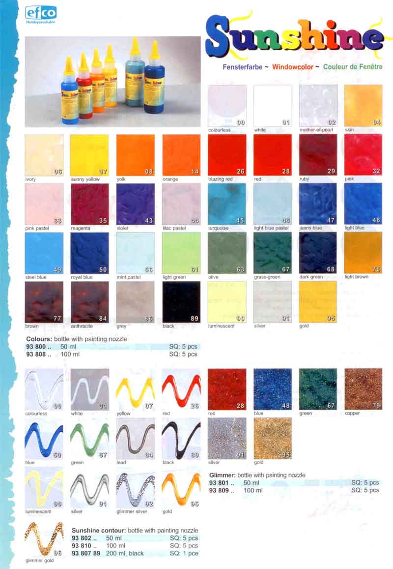Efco Sunshine peelable Glass Paint