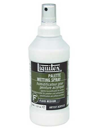 Palette wetting spray for acrylics liquitex