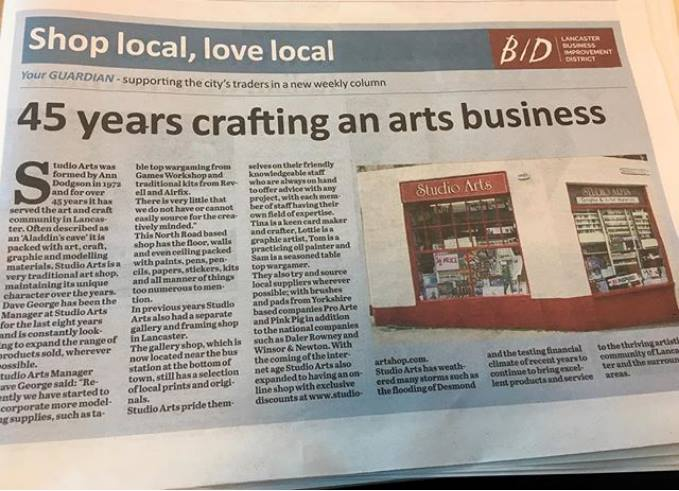 #lovelancaster 45 Years of Arts Crafts and supporting Local Arts