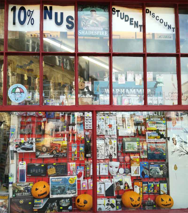 Studio Arts Materials Shop Exterior, Lancaster Chinese New Year and Valentines window #lovelancaster