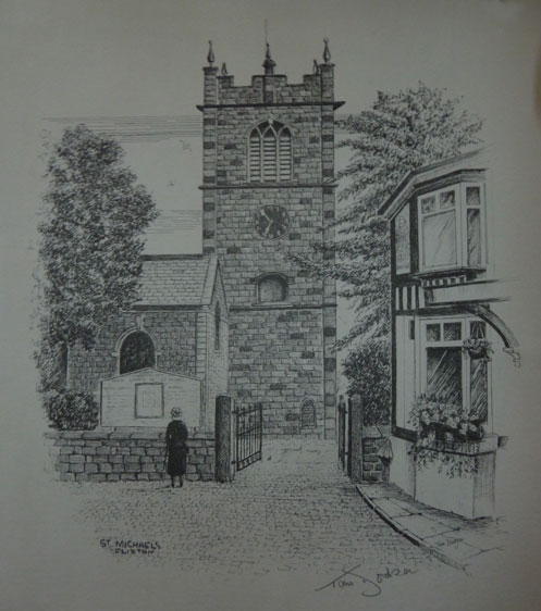 Tom Dodson St Michaels  Flixton Church pencil sketch